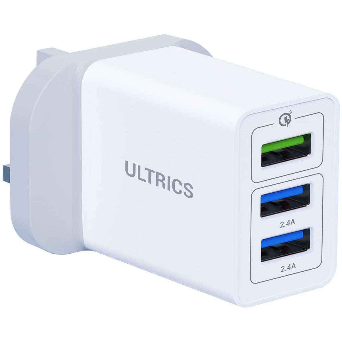 USB Plug Charger, 30W/6A 3 Port Fast Charging Mains Wall Charger Adapter